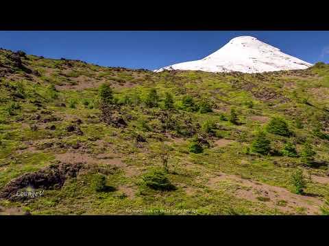 4K Drone Osorno Volcano Stock Footage Patagonia Chile Clip 38