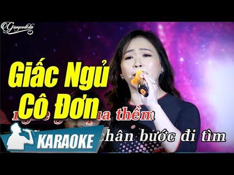 Giấc Ngủ Cô Đơn Karaoke Quý Lễ (Tone Nữ) | Nhạc Vàng Bolero Karaoke