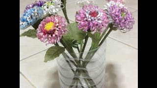 ทำดอกไม้จากซองน้ำยาปรับผ้านุ่ม(หอมๆ)