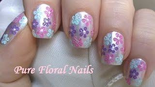 Easy Nail Art Designs! #9 - White Pearl Floral Nail Tutorial For Summer