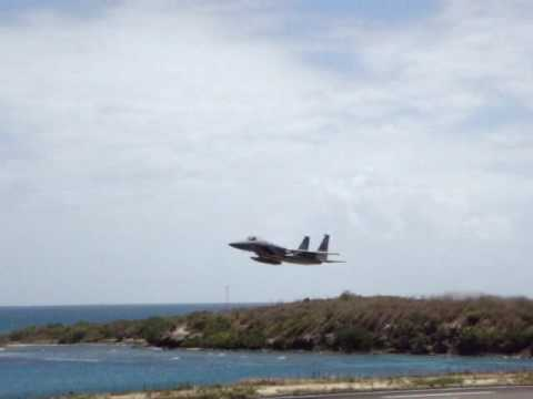F-15 and C-17 in Grenada