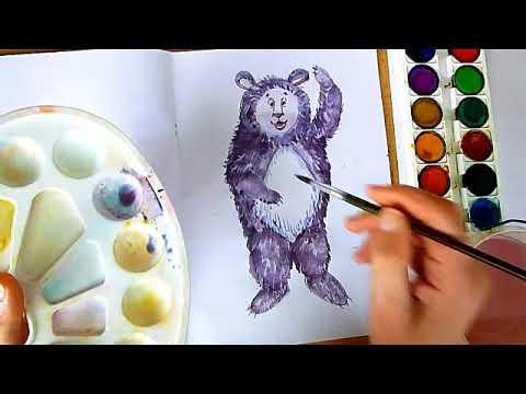 3 клас. Мистецтво. Малюємо друга Мауглі - Балу, Частина 1