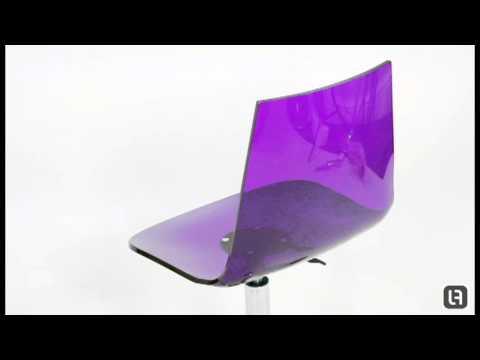 fizz acrylic office chair purple acrylic office chair