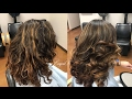 Curly Coarse Hair Blowdry & Style w/ most used Brushes