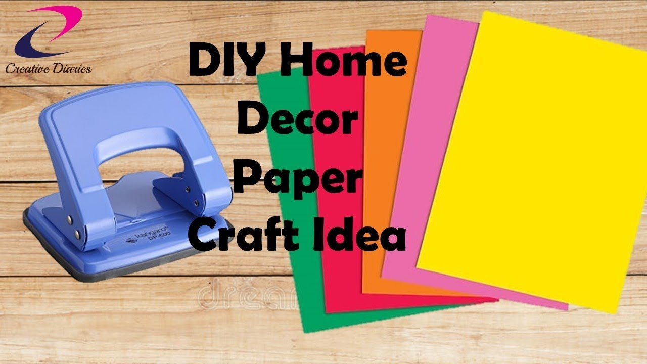 Easy Paper Wall Hanging Idea I Wall Decoration Paper Craft I Creative  Diaries