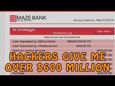 GTA Online Hackers Give Me Over $600 Million @RockstarGames (GTA V Online Hackers)