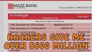 GTA Online Hackers Give Me Over $600 Million @RockstarGames (GTA V Online Hackers)