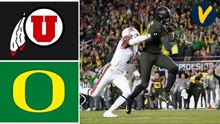 2019 Pac 12 Championship #5 Utah vs #13 Oregon Highlights