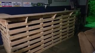 Building a pallet bar for the man cave