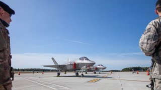 Two F-35s land at the Vermont Air Guard base