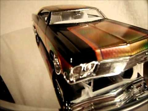 How To Remove Paint From Metal >> Custom Paint Low Rider Model Cars Drag Race Gary Seeds - YouTube