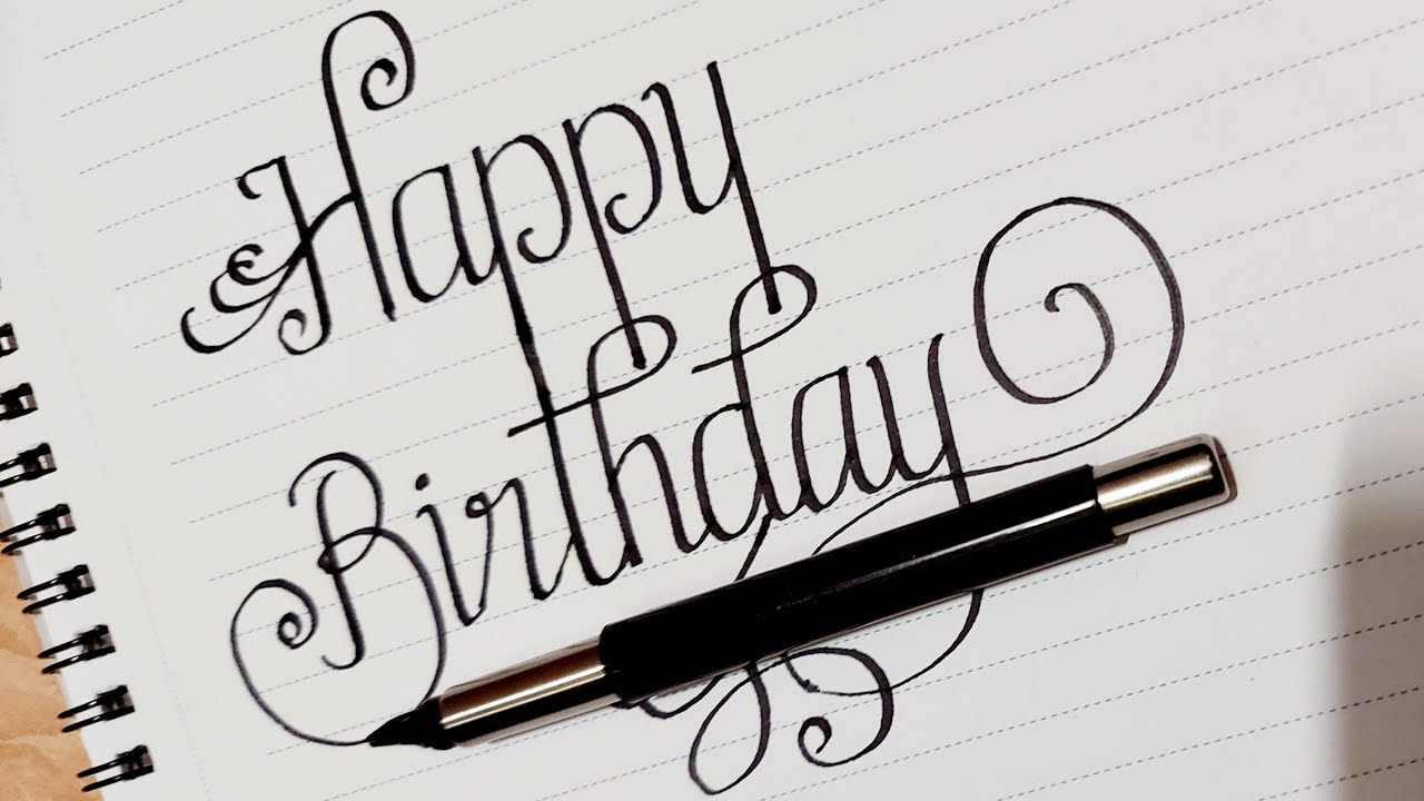 Happy Birthday Calligraphy/Neat and Clean English  Handwriting/Calligraphy/Master Handwriting