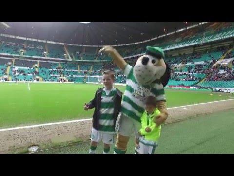 Celtic v St Johnstone Mascot Footage
