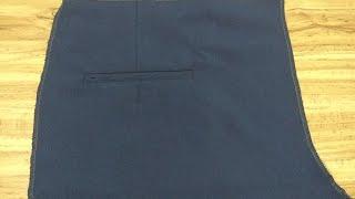 Descubre en este video como confeccionar la bolsa trasera de dos vivos del pantalón de vestir. Suscribete para más videos. Visita nuestras redes sociales.