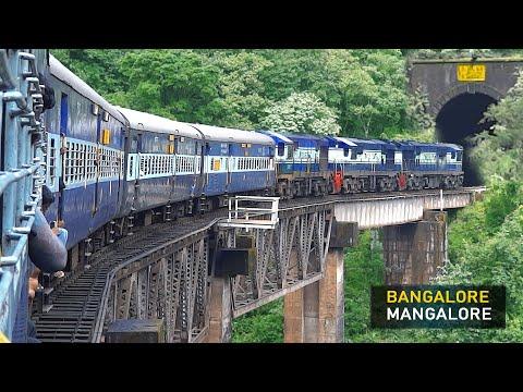 Dangerous & Thrilling Train Journey | Bangalore - Mangalore | Indian Railways