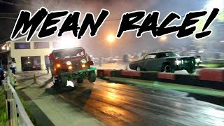 A NITROUS DONK VS A ALL MOTOR MAIL TRUCK.....THIS WAS A INTERESTING RACE