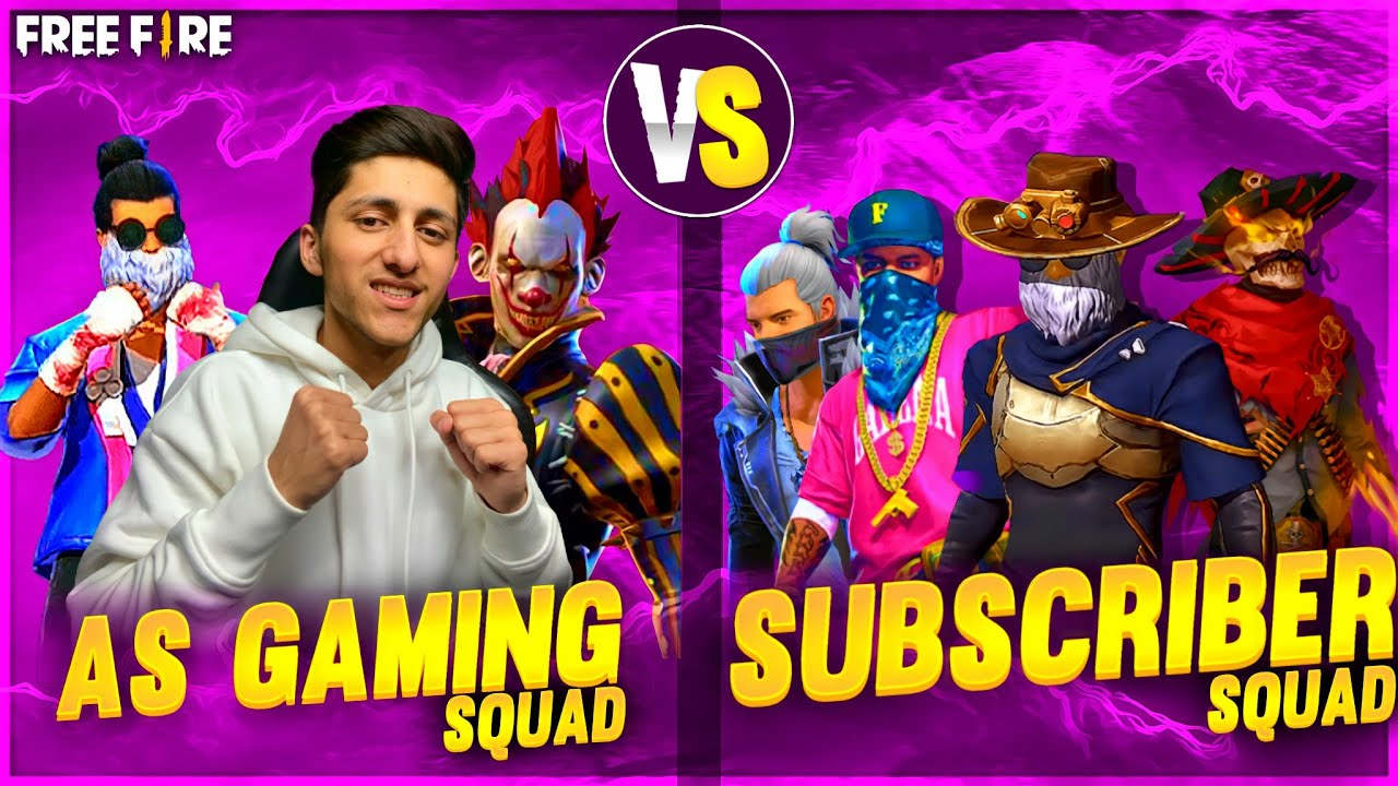 As Gaming vs Subscriber dj And friends and Clash Squad Match In Garena Free Fire
