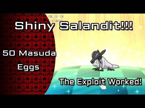 LIVE Shiny Salandit - 50 Magikarp Exploit Masuda Eggs [Twitch Highlight]