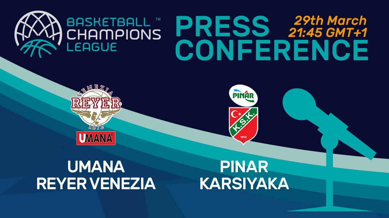 Umana Reyer Venezia v Pinar Karsiyaka - Press Conference -Quarter-Final