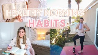 Sharing healthy morning habits, how to wake up early, and live a lifestyle! my routine + tips start your day off right! sta...