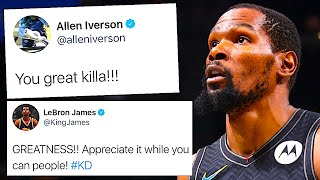 NBA PLAYERS REACT TO KEVIN DURANT 49 POINT TRIPLE DOUBLE VS BUCKS IN GAME 5 OF ECSF 2021 | KD.