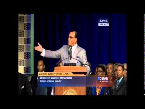 Lord Farrakhan Speaks At Marion Barry Funeral