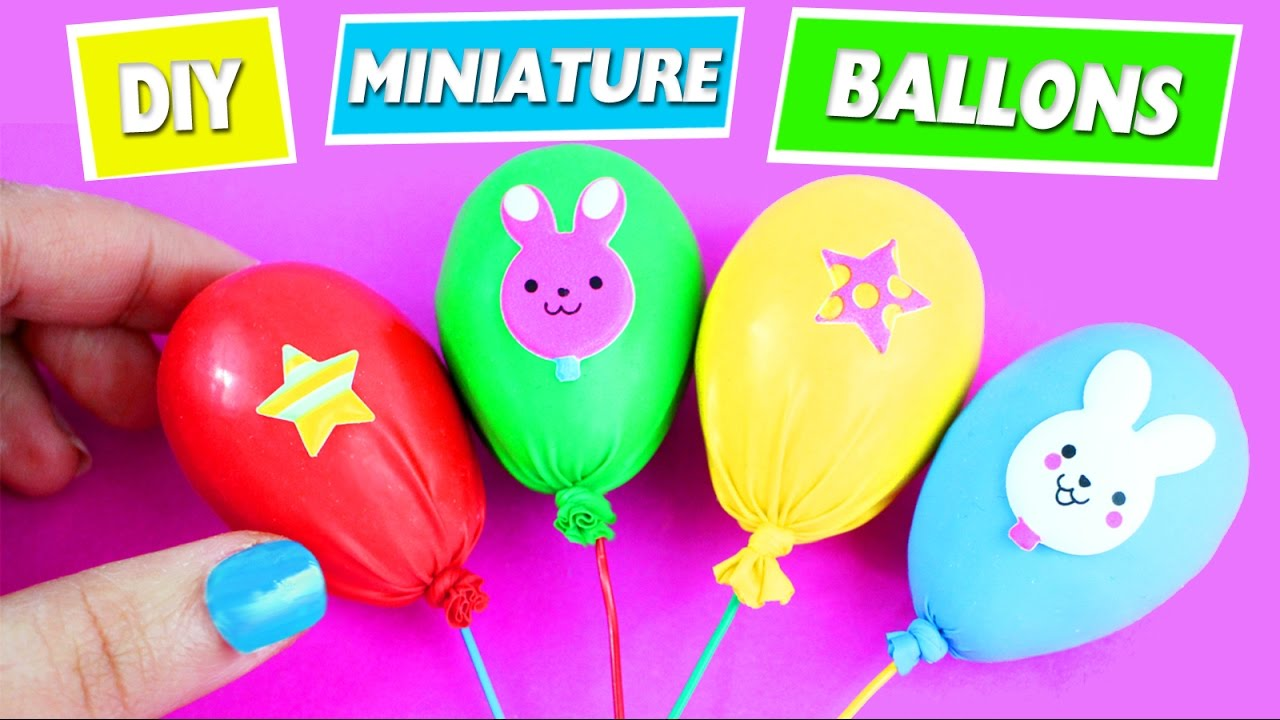 diy miniature ballons easy doll crafts 5 minutes craft simplekidscrafts youtube. Black Bedroom Furniture Sets. Home Design Ideas