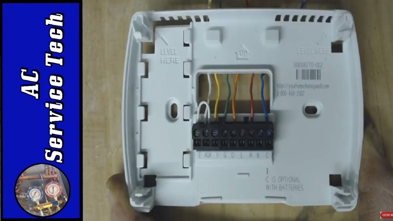 how to bypass jump a heat pump thermostat 6 wiring combinations rh youtube com luxpro thermostat [ 1280 x 720 Pixel ]