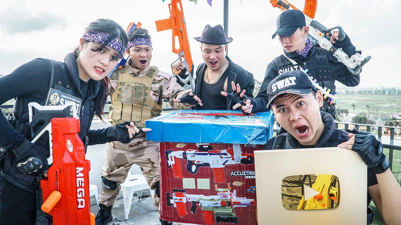 LTT Game Nerf War : Rescue Squad Warriors SEAL X Nerf Guns Fight Criminals Group Braum Crazy