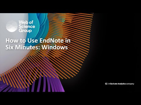 How To Use EndNote In 6 Minutes: Windows