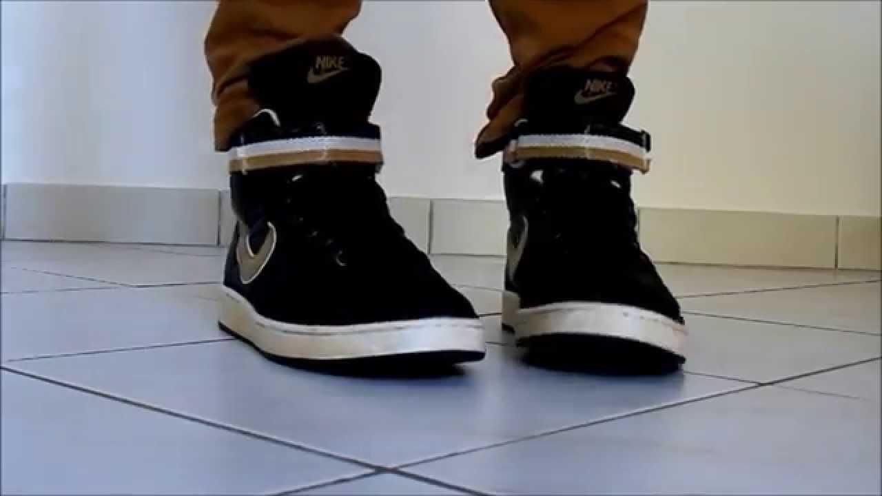 meet ea9a4 99474 Nike Vandal High Supreme Vintage BlackGold - YouTube