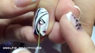 Джокер & Харли Квинн - художественная роспись на ногтях