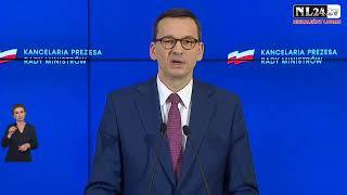 Znoszenie kolejnych obostrzeń -  Konferencja  premiera Morawieckiego i min. zdrowia Szumowskiego.
