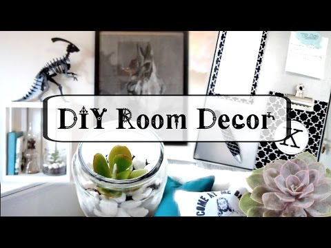 DIY Room Decor: Magnet Board, Crate Shelf, & Succulent Jar Decor