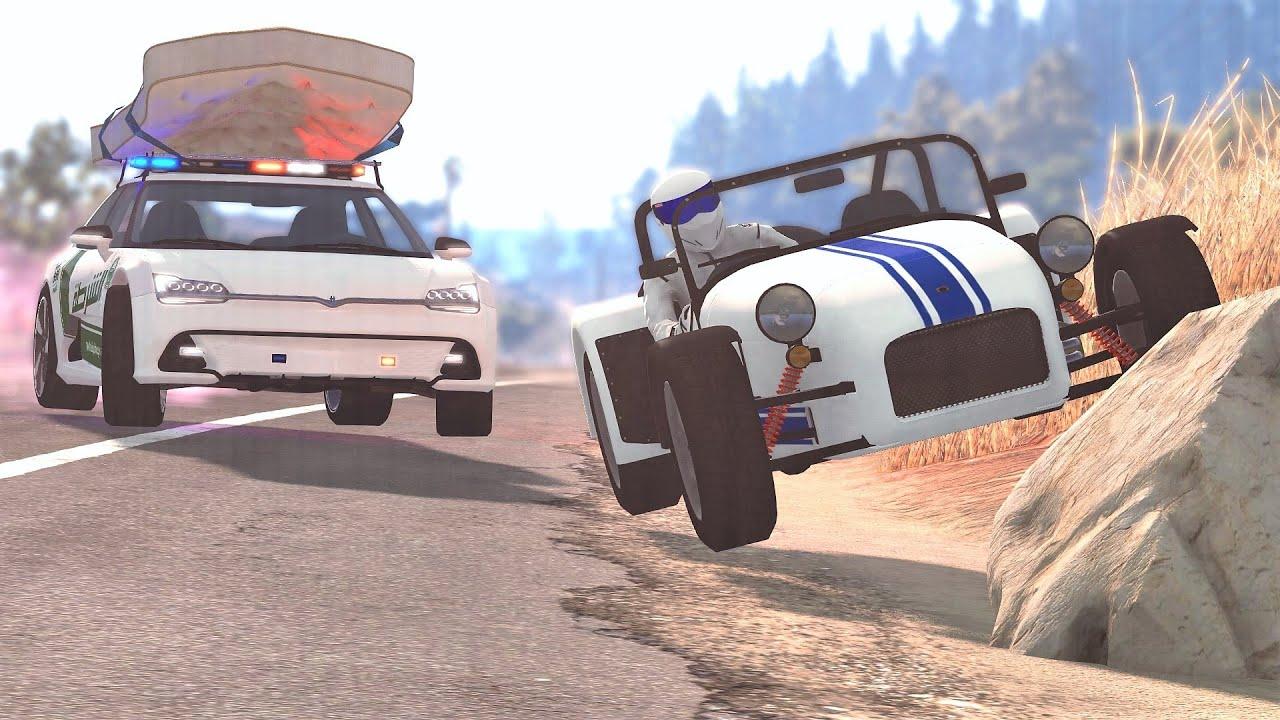 Police Interceptor Car Chases & Takedowns #84 - BeamNG Drive | CRASHdriven