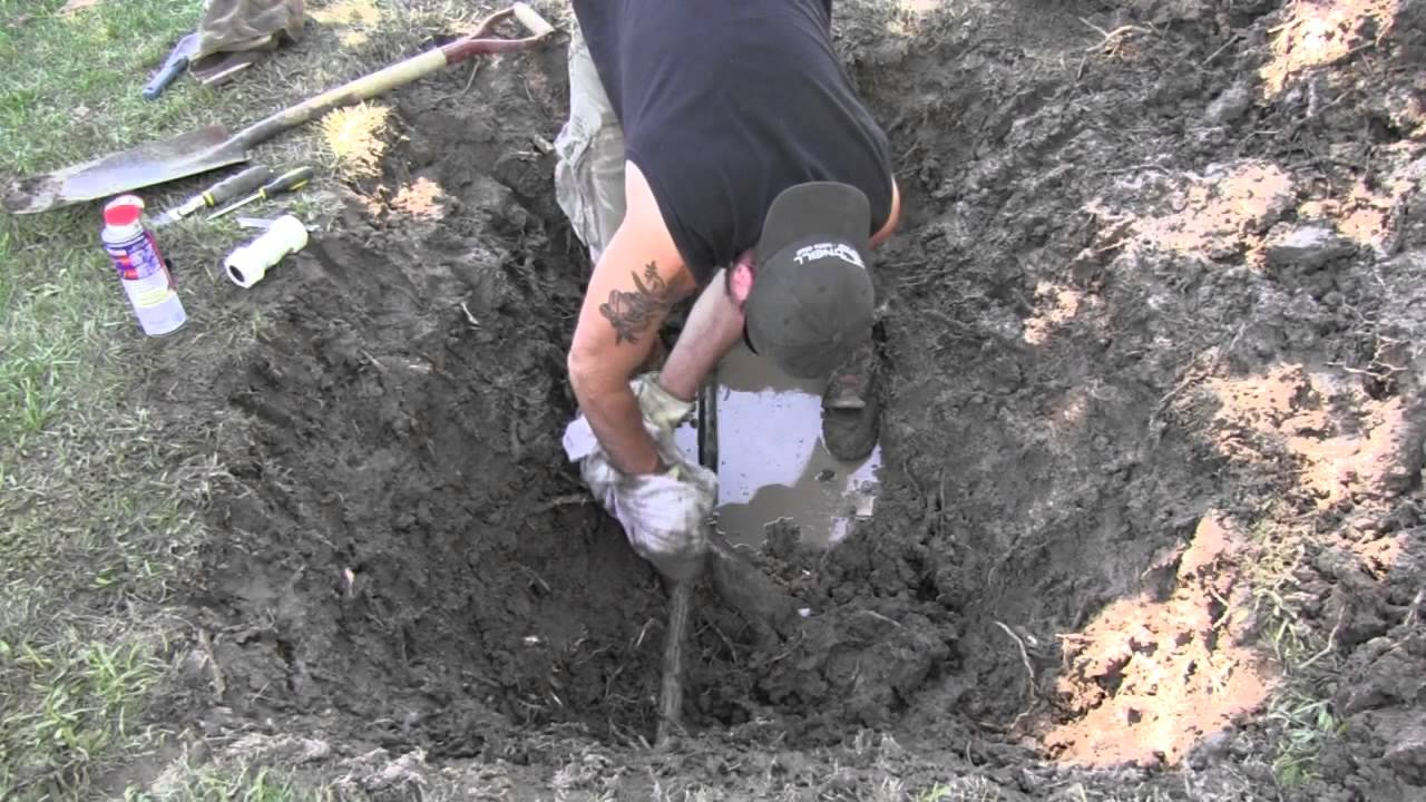 Repairing A Main Water Line With Compression R