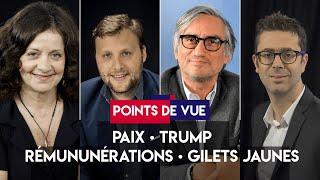 Forum pour la paix, Trump, rémunérations, gilets jaunes : Points de vue du 12 novembre