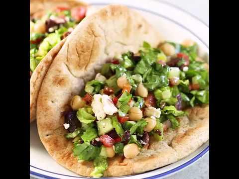 Mediterranean Chopped Salad Pitas