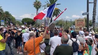 La Ciotat : manifestation contre le pass sanitaire