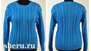 Пуловер спицами Урок 108