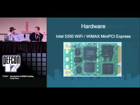 Goldy and Pierce - Intro to WiMAX Hacking