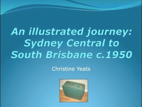 An Illustrated Journey: Sydney Central to South Brisbane c.1950