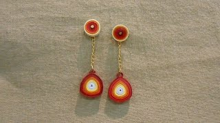 Make Sparkling Quilling Earrings - Tutorial