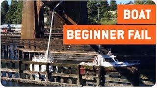 Sailboat Gets Stuck Under Bridge | Half Mast