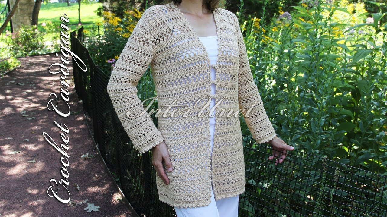 9ced8fd08d057 Long cardigan with sleeves – jacket crochet pattern - YouTube