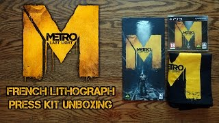 Metro Last Light Limited Edition French Lithograph Press Kit Unboxing & Review - HD 1080p