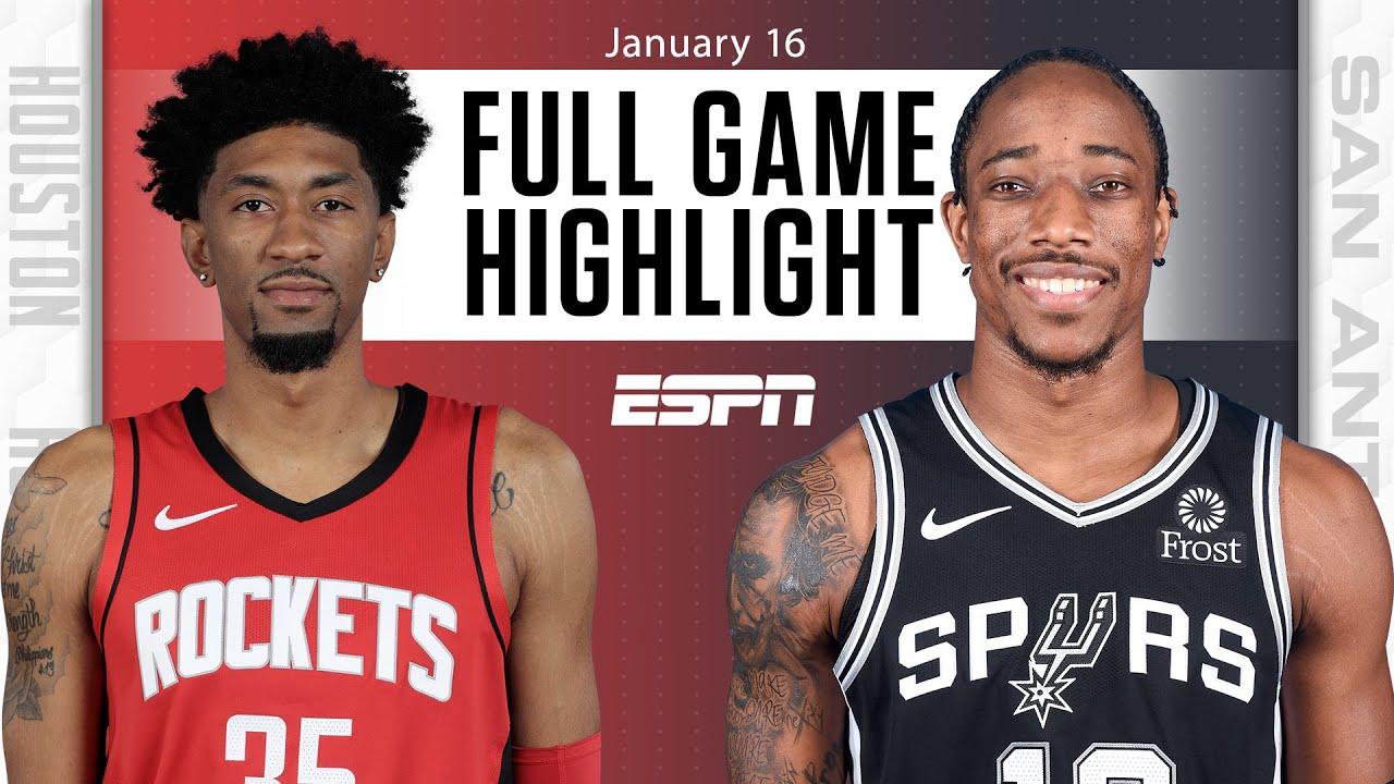 Rockets vs. Spurs - Game Recap - January 16, 2021 - ESPN