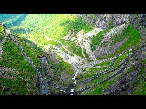 Trollstigen Norway famous serpetine mountain road, Der Trollstigen in Norwegen