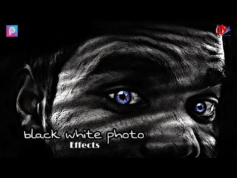 how to make picsart black white photo Effects  sketchv picsart editing .in hindi