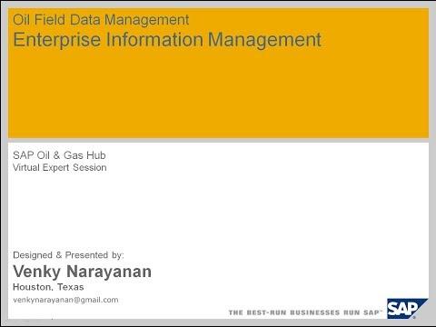 SAP - Oil & Gas - 1 - Venky Narayanan
